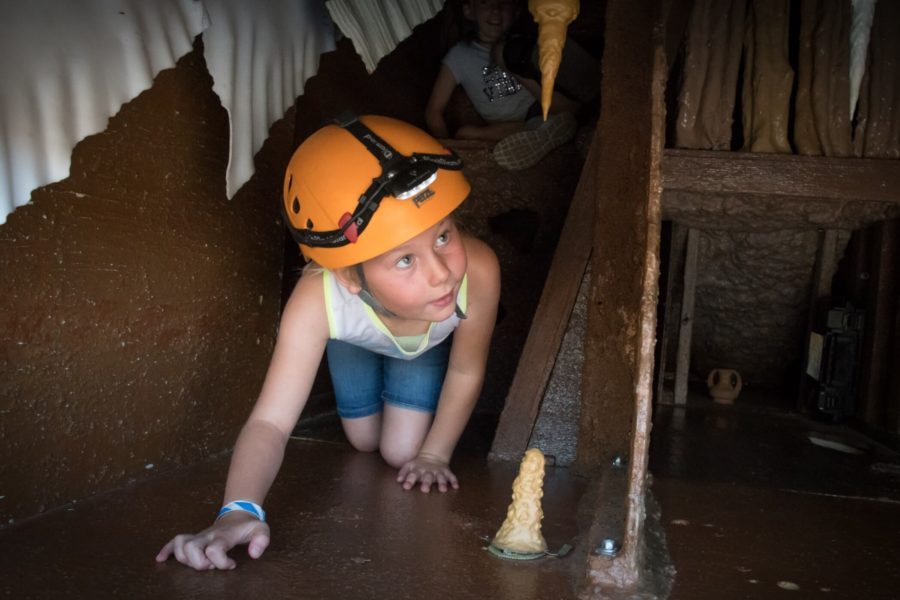 Glenwood Caverns, CO: A girl eager to find out what's around the next corner