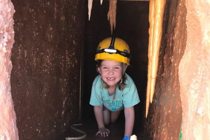 Oklahoma City, OK: Having fun in CaveSim at Science Museum Oklahoma